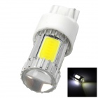 HJ-M1303 T20 5W 600lm 6000K White 4 x COB LEDs + 1 x CREE XP-E Car Light - Silver + White (12~30V)