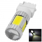 HJ-M1302 3156 5W 600lm 6000K White Car Light w/ 4 x COB LEDs + 1 x CREE XP-E (12~30V)