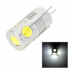 MSLED Pi05 G4 5W 160lm 6500K 5-COB LED Flood Beam White Light Bulb (AC / DC 12V)