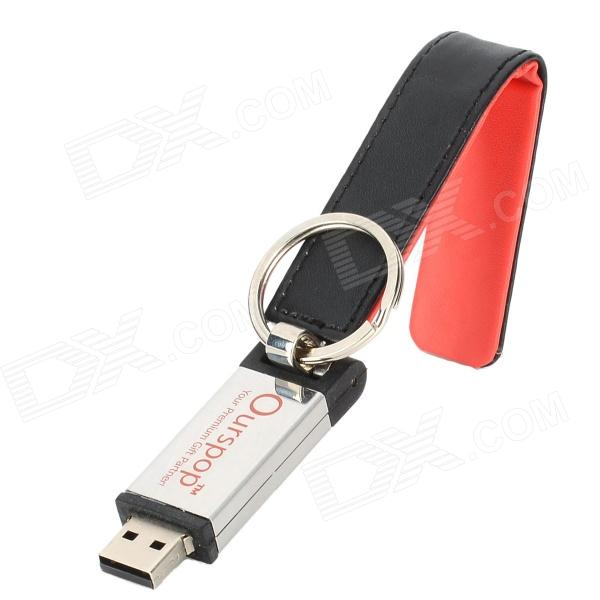Ourspop Stylish U611 USB 2.0 Flash Drive - Preto + Vermelho (16GB)