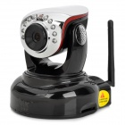 KNK-536NW H.264 HD 1.0MP PTZ Wireless IP Network Camera w/ Wi-Fi / 10-IR LED / SD - Black