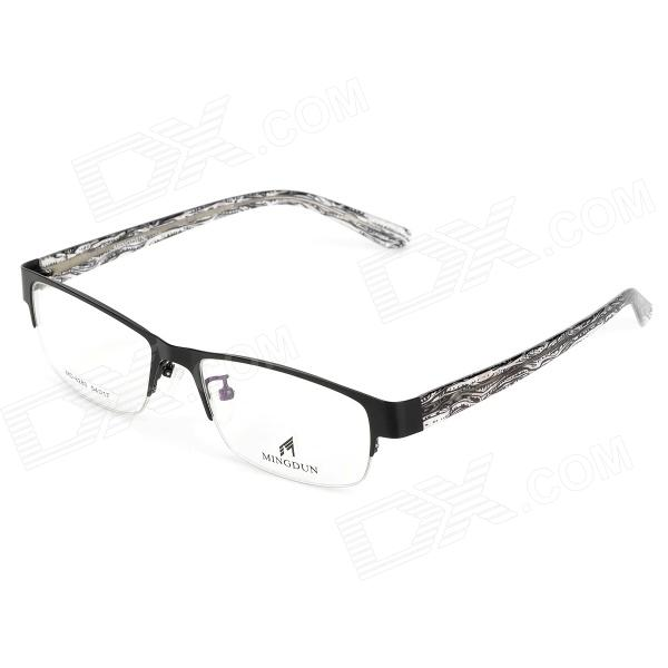 купить MINGDUN 8280 Fashion Men's High-Nickel Alloy Myopia Frame PC Lens Eyeglasses - Black недорого