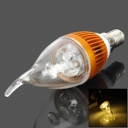 TOHDA E14 3W 200lm 3500K 3-LED Warm White Light Candle Shaped Lamp (220V)