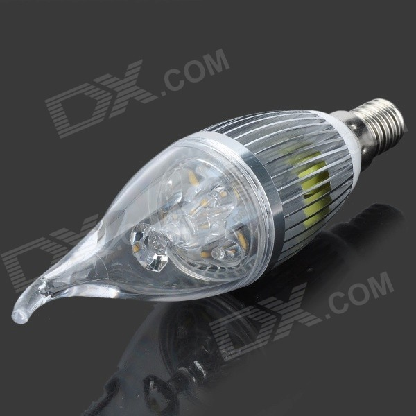 E14 5W 300lm 3500K 5-LED Warm White Candle Shaped Lamp (220V)