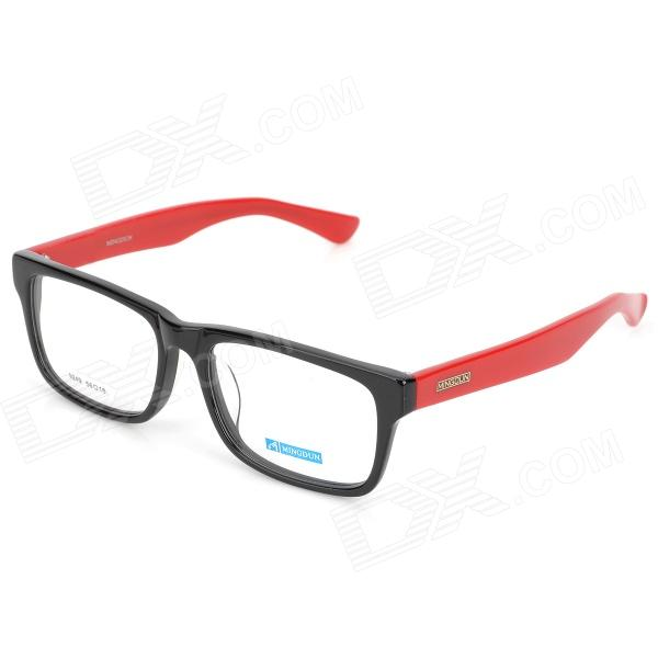 купить MINGDUN 9249 Fashion Cellulose Acetate Myopia Frame PC Lens Eyeglasses - Black + Red недорого