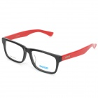 MINGDUN 9249 Fashion Cellulose Acetate Myopia Frame PC Lens Eyeglasses - Black + Red