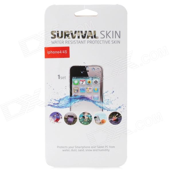 BM-006 Waterproof Protective Silicone Case Film for Iphone 4 / 4S - Translucent user