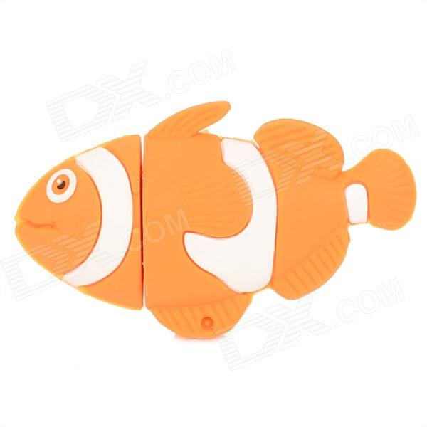 XY-20 Goldfish Style UUSB 2.0 Flash Drive - Golden + White (16GB)