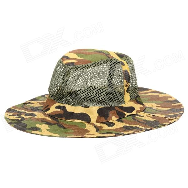 Outdoor Fishing / Mountaineering Sun-proof Wide Brim Hat for Men - Camouflage Green бутсы nike jr mercurial superfly v fg 831943 601