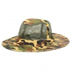 Outdoor Fishing / Mountaineering Sun-proof Wide Brim Hat for Men - Camouflage Green