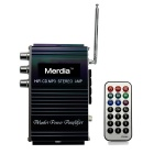 "Merdia MPYP001 2"" Car Motorcycle MP3 Amplifier Player w/ Remote Control / SD / USB / FM / MMC"
