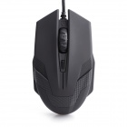 A-JAZZ GREEN HORNET Wired 6-Button Multicolor Breathing Light Professional Optical Mouse - Black