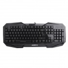 A-JAZZ K701 USB Wired Gaming 104-Key Keyboard - Black