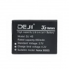 DEJI DJ-BL-4S 3.7V 860mAh Lithium-ion Battery for Nokia 2608 / 2680S / 3600S / 3602S + More - Black