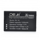 DEJI DJ-BL-4J 3.7V 1200mAh Lithium-ion Battery for Nokia C6 / C6-00 / C6-01 / C6-02 / 620 - Black
