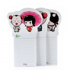 Paperworker BXTBLT01 Lucky Boy Series Magnetic Memo Paper Pads - White (3 PCS)