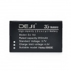 DEJI DJ-BL-5U 3.7V 950mAh Lithium-ion Battery for Nokia BL-5U / 8900E - Black