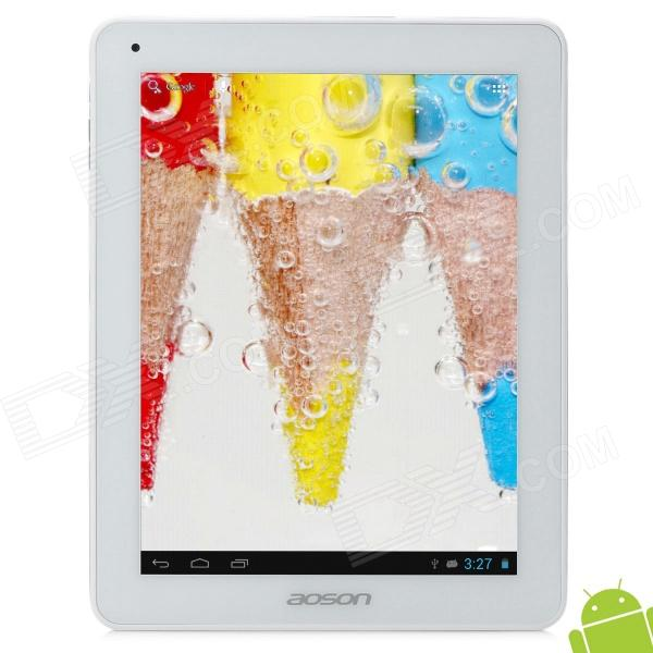 AOSON M33 9.7 Retina Capacitive Screen Android 4.1.1 Quad Core Tablet PC w/ TF / Wi-Fi - White
