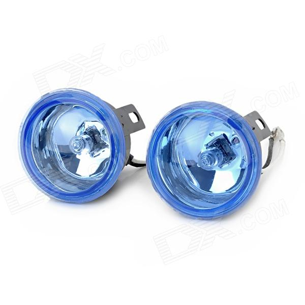 FC-2003 H3 55W 1450lm 5000K Warm White Front Fog Light for Car Vehicle - Blue + Black (Pair)