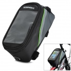 Roswheel 12496M-B5 Saddle Touch Screen Bag for Cell Phone w/ Earphone Hole - Black