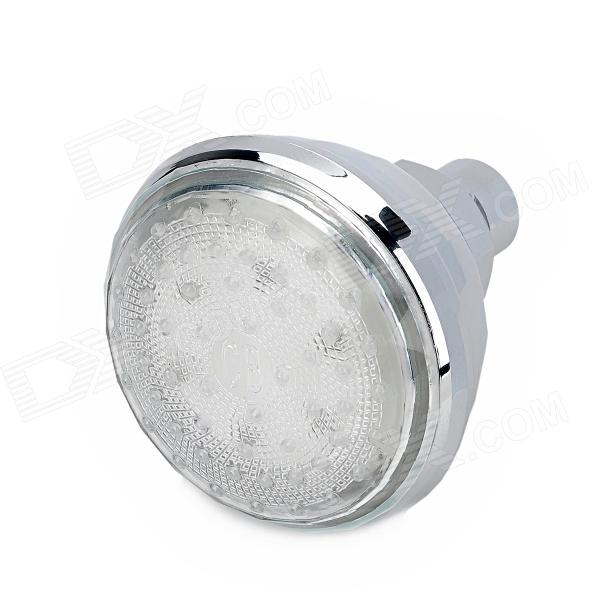 SHENDING LD8010-A2 Romantic 3.15 Colorful 7-Color Changing Rainfall LED Shower Head - Silver