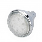 "SHENDING LD8010-A2 Romantic 3.15"" Colorful 7-Color Changing Rainfall LED Shower Head - Silver"