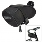 ROSWHEEL 13656 Cycling Bicycle Bike Saddle Seat Polyester Tail Bag - Black (1.3L)