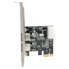 AKE-007 2-Port USB 3.0 High Speed PCI-E Expansion Card for Desktop - Blue + Silver