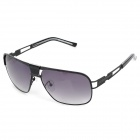 LANGTEMENG J58143 D220-210 Stylish Men's UV400 Protection Sunglasses - Black + Grey
