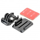 Miniisw M-AC Universal Curved Surface Mount Kit for Gopro Hero3 / 3+ / Hero2 / Hero / SJ4000 - Black