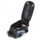"Roswheel 12496M-B5 Bike Saddle 4.8"" Touch Screen Bag for Cell Phone w/ Earphone Hole - Black + Blue"