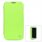 HOCO HS-L031 Protective PU Leather + PC Case for Samsung Galaxy S4 i9500 - Green + Translucent Green