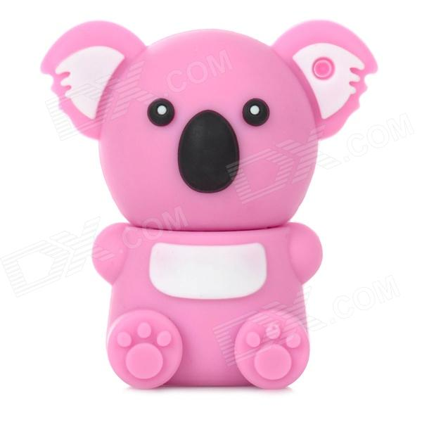 KAON-20 Cute Koala Shape USB 2.0 Flash Drive Disk - White + Pink (8GB) cute cartoon mushroom usb flash drive pink white purple 8gb