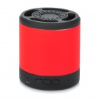 Stylish Mini Bluetooth V2.1 Music MP3 Speaker w/ Handsfree / FM Radio / TF - Black + Red