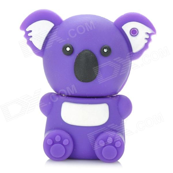KAON-20 Cute Cartoon Koala Style USB 2.0 Flash Drive Disk - Purple (4GB) cartoon koala style usb 2 0 flash drive brown white 4 gb