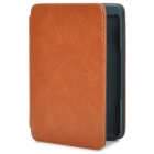 Stylish Protective Crazy Horse Leather Case w/ LED Reading Light for Amazon Kindle 4 - Brown