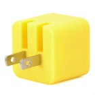 Baolong xing BL-008 Square Shape US Plug Power Adapter for Smartphone - Yellow (100~240V / 1500mA)