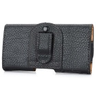 Handy Durable PU Leather Waist Belt Phone Case for Huawei P6 - Black