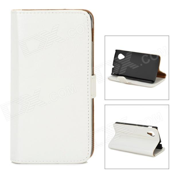 все цены на Protective PU Leather Case w/ Stand / Card Slots for LG Nexus 5 E980 / D820 - White онлайн