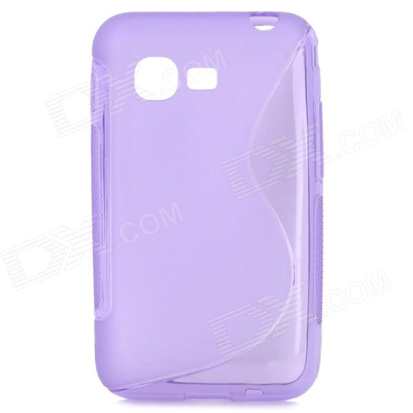 Protective S Style TPU Back Case for Samsung S5222 - Purple small holes style protective pe back case for htc one x s720e purple