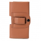 Convenient PU Leather Waist Case for Iphone 4 / 4s - Brown