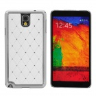 Stylish Crystal-inlaid Plastic Back Case for Samsung Galaxy Note 3 - White