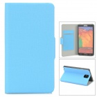 YSY-001 Protective PU Leather Case w/ Card Slot for Samsung Galaxy Note 3 - Blue