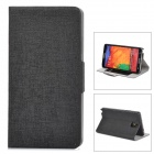Protective PU Leather Case w/ Card Slot for Samsung Galaxy Note 3 - Black