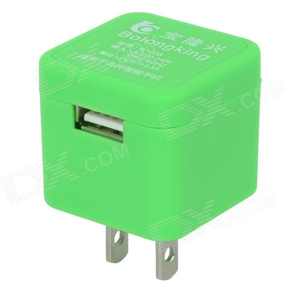 BL-008 Foldable US Plug 100~240V Power Adapter / Charger w/ USB 2.0 Port - Green наушники 3d 008
