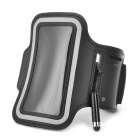 Convenient Neoprene Arm Phone Bag w/ Stylus for Samsung Galaxy S4 Mini i9190 - Black