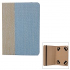 Ultrathin Protective PU Leather Case w/ Stand / Auto Sleep for Ipad 5 - Blue + Grey