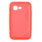 S Pattern Protective TPU Case for Samsung S5222 - Red