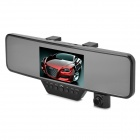 "V110K 3.0 MP 4.3"" TFT 90' Wide Angle CMOS Bluetooth Car Rearview Mirror Car Camcorder - Black (32G)"