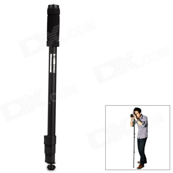 WT-1003 Universal 1/4 Camera Aluminum Alloy Monopod - Black xiletu xmv 30 aluminum professional tripod for camera stand dslr video tripods fluid head damping